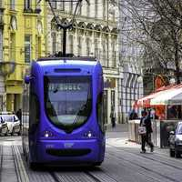 Croatian Tram in Zagreb, Croatia