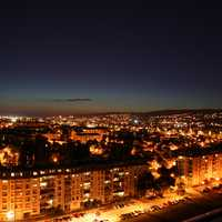 Night Cityscape in Zagreb, Croatia