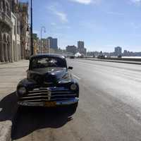 Car Parked by the roadside in Havana, Cuba