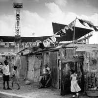 Slum Dwellings in Havana, Cuba in 1954