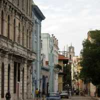 Street and buildings in Havana, Cuba