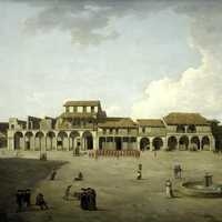 The Piazza in Havana, Cuba, in 1762