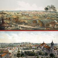 Two Views of Santa Clara, Cuba in the mid 1800s