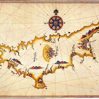 Historical map of Cyprus by Piri Reis
