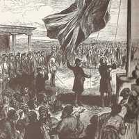 Hoisting the British flag in Nicosia, Cyprus