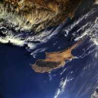 Satellite Image of Cyprus