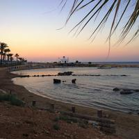 Sunset on the beach in Cyprus