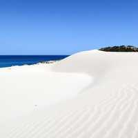 White sand beach landscape in Cyprus