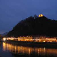Evening in Decin in Czech Republic