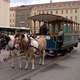 Horse Drawn Tram in Brno in Czech Republic