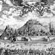 Sketch of Brno in 1700 in Czech Republic