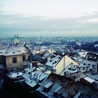 Cityscape and rooftops and Urban landscape in Prague, Czech Republic