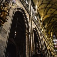Inside the Cathedral in Prague, Czech Republic