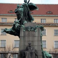 Monument to František Palacký in Prague, Czech Republic