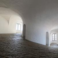 The Round Tower inside in the building in Kabenhavn, Denmark