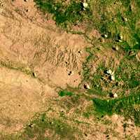 Space Image of the border between Haiti and the Dominican Republic