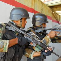 Soldiers training in Santo Domingo