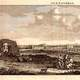 Landscape view of Pompey's Pillar in 1681 in Alexandria, Egypt