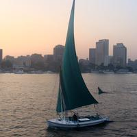 A boat in the Nile, Cairo, Egypt