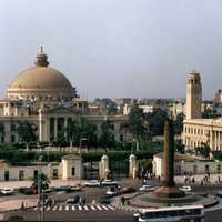 Cairo University buildings in Egypt