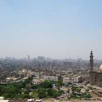 Cityscape and buildings in Cairo, Egypt