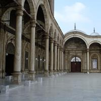 Inside the Citadel Mosque in Cairo, Egypt
