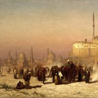 Painting of the tombs of Cairo in the 1870s, Egypt