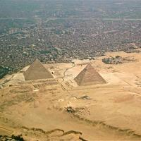 Giza Pyramids and Cityscape in Egypt