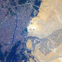 Satellite Images of Giza and Pyramids, Egypt