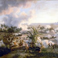 Battle of the Pyramids in Egypt, a victory of Napoleon