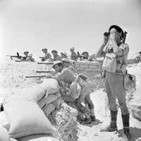 British infantry near El Alamein in Egypt