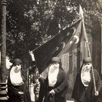 Female nationalists demonstrating in Cairo, 1919, Egypt