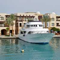 Hotel and Boat in Port, Egypt