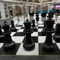 Giant Chess Board in Coventry Library, UK