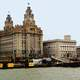 Closeup view of Liverpool Waterfront, England