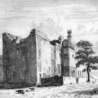 Sheffield Manor ruins as they appeared c1819 in England