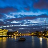 London Night Sky with Dramatic Skies