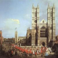 Westminister Abby in London with Knights of the Bath