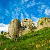 Corfe Castle in England