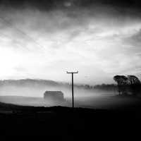 Black and White with Fog landscape