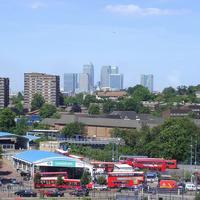 Lewisham Station, an important transport hub in England