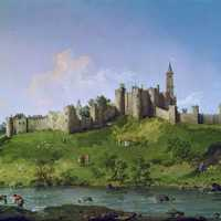 Painting of Alnwick Castle
