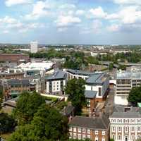 Panoramic View of the city of Coventry, England