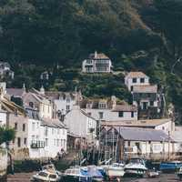 Seaside houses in Polperro, England