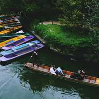 People canoeing in Oxford, England