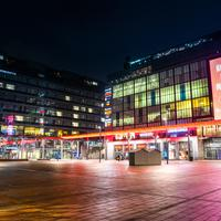 Helsinki Shopping Center with lights