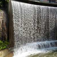 Manmade waterfall in Helsinki Finland