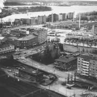 Black and White Cityscape of Tampere, Finland