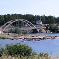 Bridge to Prästö in Sund municipality, Finland