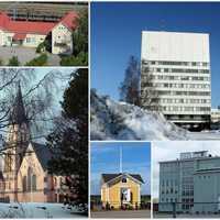 Collage of the town of Kemi, Finland